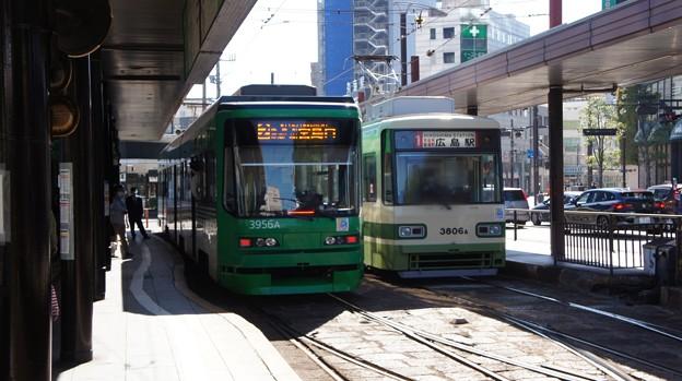 広島電鉄 3956と3806