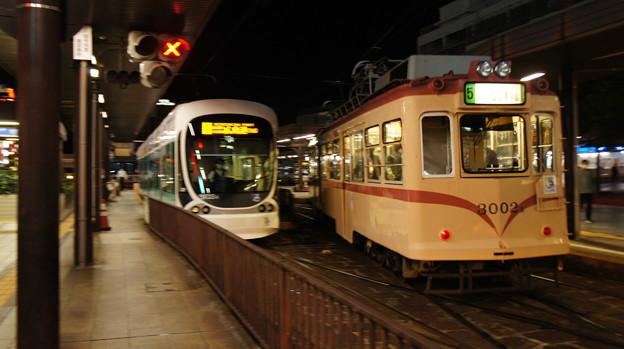 広島電鉄 5103と3002