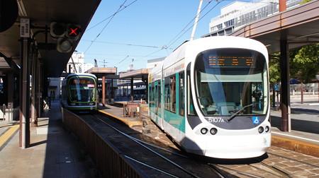 広島電鉄 1009と5107