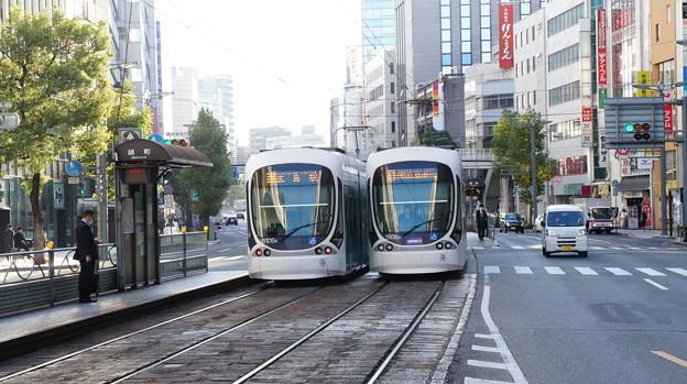 広島電鉄 5105と5108