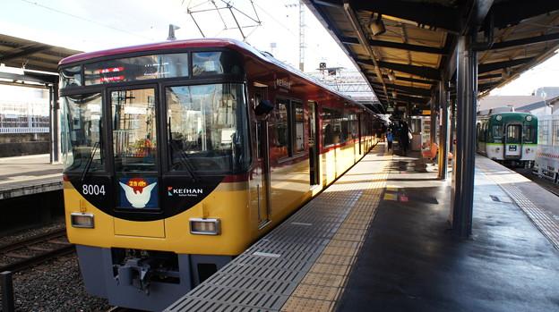 京阪8000系8004Fと2600系2609F