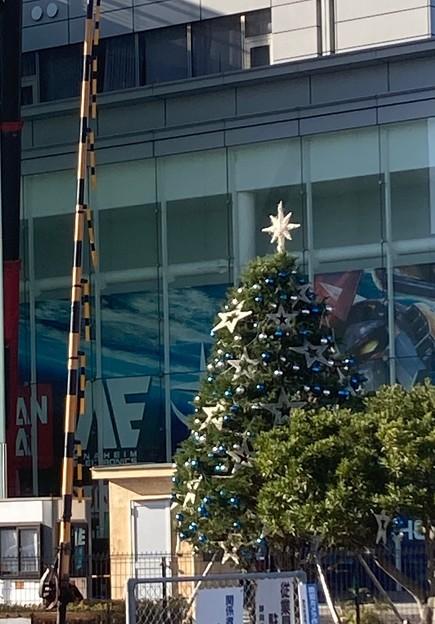 バンダイホビースクエアのクリスマスツリー