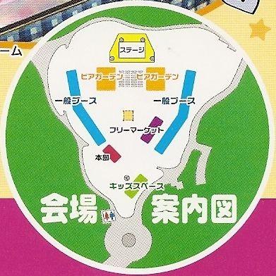 桃花台まつり2008会場案内図