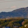 写真: 下原住宅から見えた(たぶん)御嶽山 - 2