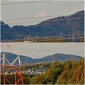写真: 下原住宅から見えた(たぶん)御嶽山 - 4