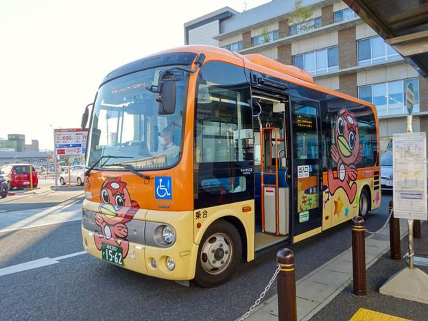 「うながっぱ」デザインの多治見市のコミュニティーバス「ききょうバス」 - 1
