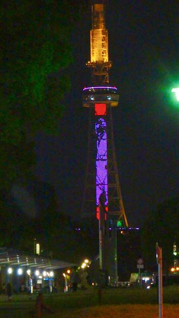 NHK「ブラタモリ」名古屋回をPRする名古屋テレビ塔のイルミネーション - 15