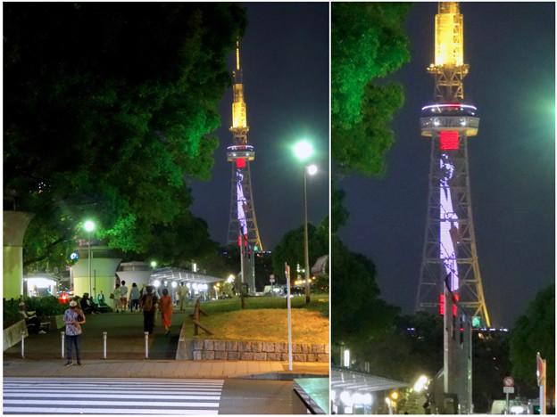 NHK「ブラタモリ」名古屋回をPRする名古屋テレビ塔のイルミネーション - 24