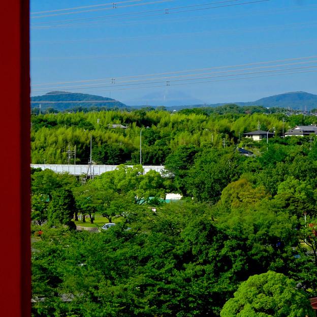 落合公園 水の塔から見た景色:雪がほとんど消えてた、初夏の御嶽山 - 9