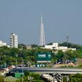 写真: JR中央線の陸橋の上から見た瀬戸デジタルタワー - 1