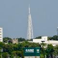 写真: JR中央線の陸橋の上から見た瀬戸デジタルタワー - 2