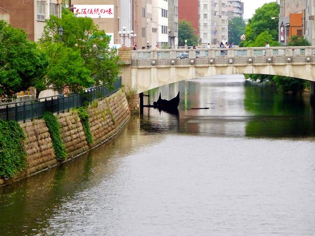 堀川:錦橋下に停留されてたゴンドラ - 1