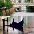 写真: 堀川:錦橋下に停留されてたゴンドラ - 4