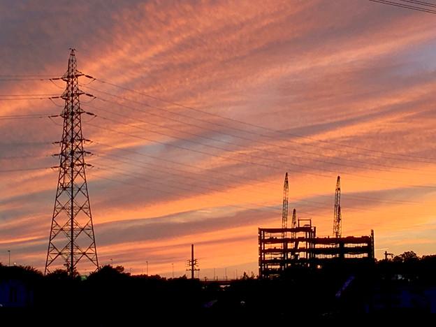 綺麗だった、今日夕方の筋雲 - 4