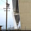 金城ふ頭から見上げた名港中央大橋 - 6