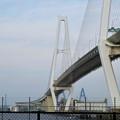金城ふ頭から見上げた名港中央大橋と名港東大橋 - 2