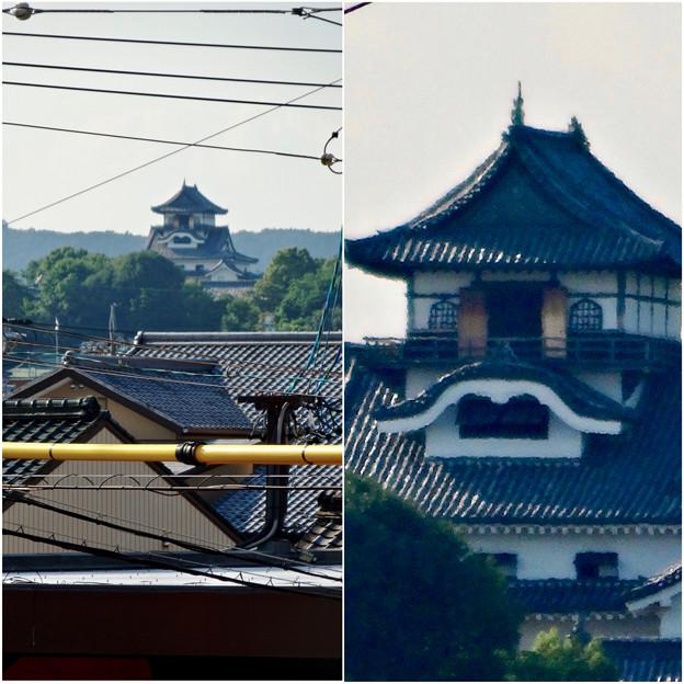 犬山駅から見えた、落雷でシャチホコが壊れた犬山城(2017年7月15日) - 5