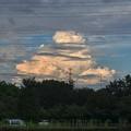 写真: 遠くに見えた発達した入道雲 - 2