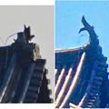 写真: 落雷でシャチホコが破損した数日後の犬山城と2年前(2015年3月)の犬山城比較 - 9