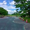 写真: 春日井市民納涼まつり 2017:前日(7月21日)準備が進む落合公園 - 1