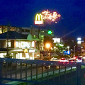 国道19号に架かる歩道橋の上から見た「春日井市民納涼まつり 2017」の花火 - 3