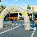 安城七夕まつり 2017 No - 153:星と「キーボー」が描かれたエアゲート(安城駅南口西側)