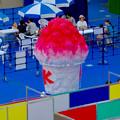 AR使った企画「Frozen snipAR(フローズン スナイパー)by 1→10」 - 3:会場に設置された巨大かき氷オブジェ
