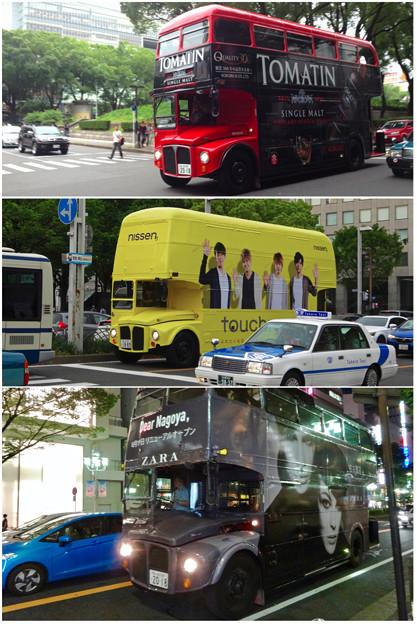 名古屋栄で時々見かけるPRのためのロンドンバス - 1