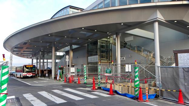 まだかなり工事してた、JR春日井駅北口前(2018年2月14日) - 2
