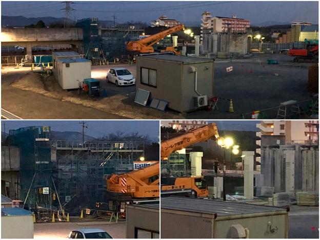 桃花台線の桃花台中央公園南側高架撤去工事(2018年2月20日) - 11