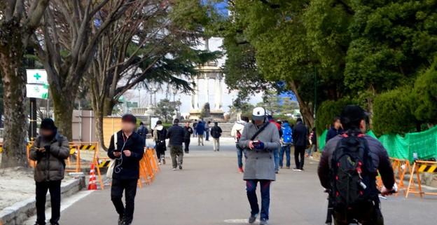 ポケモンGoのイベント「コミュニティデイ」開催でたくさんの人が集まっていた鶴舞公園(2018年2月24日) - 14