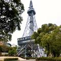 写真: 真下から見上げた名古屋テレビ塔(2018年3月3日) - 2;縦パノラマ
