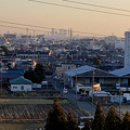 県営岩崎住宅(岩崎団地)から見た名駅ビル群とザ・シーン城北 - 1