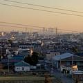 県営岩崎住宅(岩崎団地)から見た名駅ビル群とザ・シーン城北 - 2