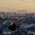 県営岩崎住宅(岩崎団地)から見た名駅ビル群とザ・シーン城北 - 3
