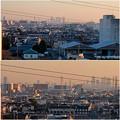 県営岩崎住宅(岩崎団地)から見た名駅ビル群とザ・シーン城北 - 6