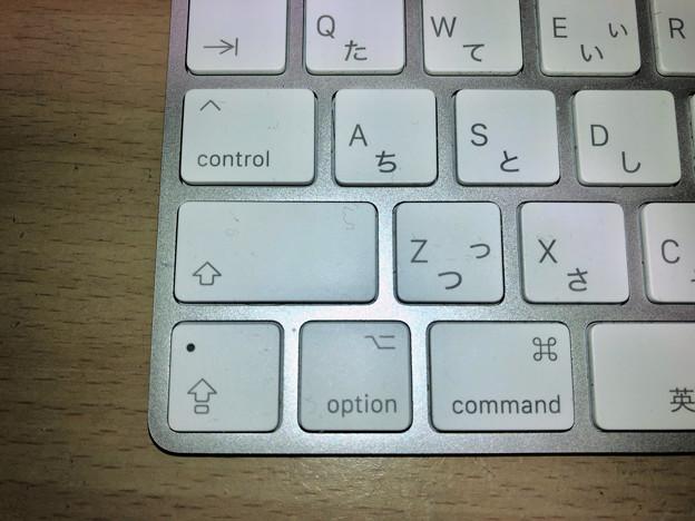 Magic KeyboardのキートップにはCtrlやOptionにも記号
