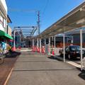 まだ周辺工事中のJR春日井駅 北口(2018年3月10日) - 12:アーケードを整備中?