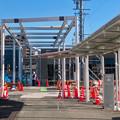 まだ周辺工事中のJR春日井駅 北口(2018年3月10日) - 13:アーケードを整備中?