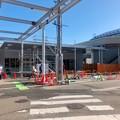 まだ周辺工事中のJR春日井駅 北口(2018年3月10日) - 17:駅舎横の建物