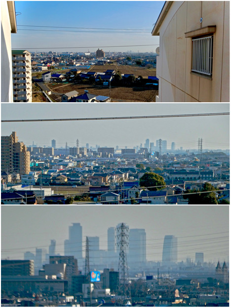 県営岩崎住宅から見た名駅ビル群 - 8