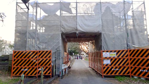 改修工事中だった名古屋城 二之丸大手二之門 - 2