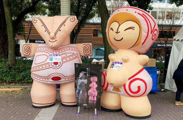 旅まつり名古屋 2018 No - 5:茅野市の土偶モチーフのキャラ「カメリーナ」と「ビーナちゃん」