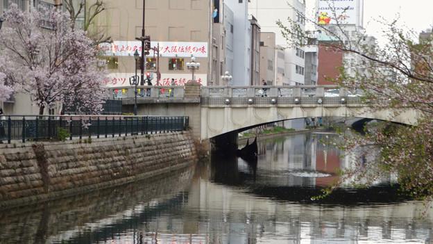 すでに満開&葉桜だった納屋橋近くの堀川沿いの桜(四季桜、2018年3月18日) - 5