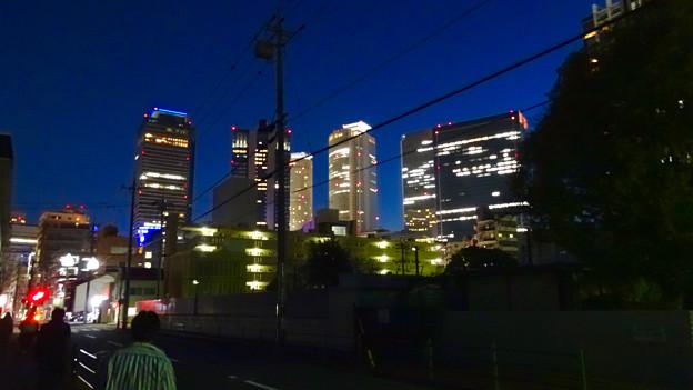 名古屋駅の北東側から見た夜の名駅ビル群 - 1