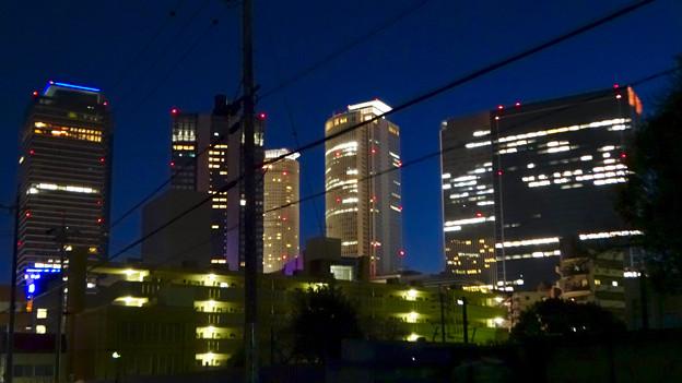 名古屋駅の北東側から見た夜の名駅ビル群 - 2