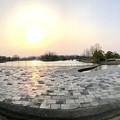 夕暮れ時の落合公園パノラマ