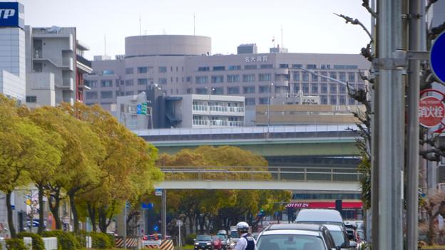 名古屋高速越しに見えた名大病院 - 1