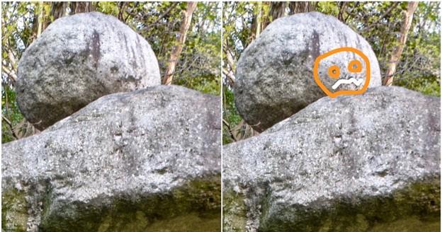 東山動植物園:パンプキン顔(ジャック・オー・ランタン)が浮かび上がって見えた中国庭園の石灯籠 - 8