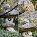 写真: 東山動植物園:パンプキン顔(ジャック・オー・ランタン)が浮かび上がって見えた中国庭園の石灯籠 - 18